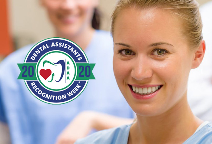 Dental Assistant celebrating Dental Assistants Recognition Week 2020